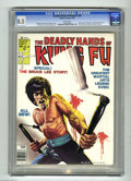 Magazines:Miscellaneous, The Deadly Hands of Kung Fu #28 (Marvel, 1976) CGC VF+ 8.5 Whitepages. Bruce Lee cover by Ken Barr. All Bruce Lee special i...