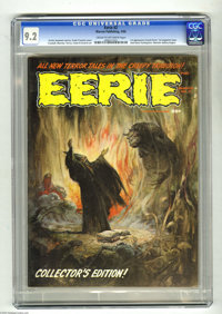 Eerie #2 (Warren, 1966) CGC NM- 9.2 Cream to off-white pages. First appearance of Cousin Eerie. First magazine issue. Ja...