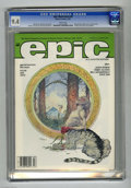 Magazines:Science-Fiction, Epic Illustrated #28 (Marvel, 1985) CGC NM 9.4 White pages. Cerebusstory. Michael Kaluta cover. Atlanta Fantasy Fair art po...
