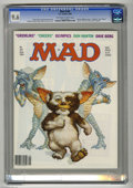 """Magazines:Mad, Mad #249 (EC, 1984) CGC NM+ 9.6 Off-white to white pages.""""Gremlins"""" and """"Cheers"""" spoofs. Richard Williams cover. MortDruck..."""