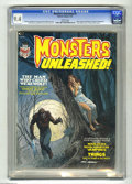 Magazines:Horror, Monsters Unleashed #1 (Marvel, 1973) CGC. NM 9.4 White pages Robert Bloch and Robert E. Howard adaptations. Larry Talbot art...