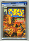 Magazines:Science-Fiction, Planet of the Apes #2 (Marvel, 1974) CGC VF- 7.5 Off-white to whitepages. Michael Wilson interview. Bob Larkin cover. Mike ...