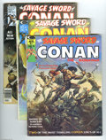 Magazines:Miscellaneous, Savage Sword of Conan Group (Marvel, 1974-86). The first fourissues in this group average VG condition; the others average ...(Total: 78 Comic Books Item)