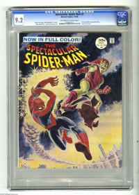 Spectacular Spider-Man #2 (Marvel, 1968) CGC NM- 9.2 Off-white to white pages. Incredible cover painting by John Romita...