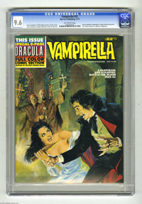 Vampirella #22 (Warren, 1973) CGC NM+ 9.6 Off-white pages. Steve Englehart biography. Eight-page Dracula preview (first...