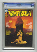 Magazines:Horror, Vampirella #40 (Warren, 1975) CGC NM 9.4 Off-white to white pages. Berni Wrightson biography. Back cover painting by Ken Kel...