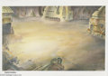 Original Comic Art:Miscellaneous, Heavy Metal 2000 Village Background Painting Original Art. (undated) A village setting served as the location for this backg...