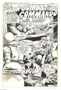 Original Comic Art:Splash Pages, Ernie Patricio - G.I. Combat #255, Splash Page 1 Original Art (DC,1983). Ernie Patricio detailed the splash page for a rare...