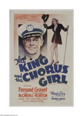 Movie Posters:Comedy, The King and the Chorus Girl (Warner Brothers, 1937)...
