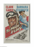 Movie Posters:Action, To Please a Lady (MGM, 1950)...