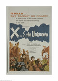 X the Unknown (Warner Brothers, 1957)