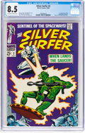 Silver Age (1956-1969):Superhero, The Silver Surfer #2 (Marvel, 1968) CGC VF+ 8.5 Off-white to white pages....