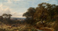 Fine Art - Painting, European:Antique  (Pre 1900), Henry Jutsum (British, 1816-1869). View of Hatfield House,1855. Oil on canvas. 16 x 30 inches (40.6 x 76.2 cm). Signed ...