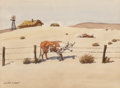 Works on Paper:Watercolor, Leonard Howard Reedy (American, 1899-1956). The Dust Bowl. Watercolor on paper. 8 x 11 inches (20.3 x 27.9 cm) (sight). ...