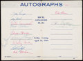 """Autographs:Letters, 1959 New York Yankees Multi-Signed """"My Baseball Autographs"""" Booklet(12 Signatures)...."""