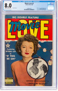 Golden Age (1938-1955):Romance, Movie Love #2 (Famous Funnies Publications, 1950) CGC VF 8.0 Creamto off-white pages....