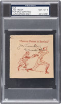 """Autographs:Index Cards, Circa 1940's Joe Tinker """"Famous Names in Baseball"""" Signed Cut, PSA/DNA NM-MT 8...."""