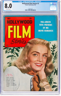 Hollywood Film Stories #2 (Feature/Prize Publications, 1950) CGC VF 8.0 Off-white pages