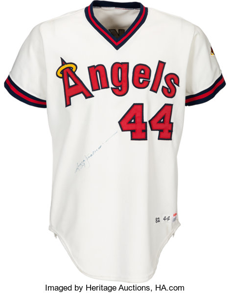 quality design 7765f ca486 1982 Reggie Jackson Game Worn & Signed California Angels ...