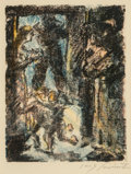 Fine Art - Work on Paper:Print, Lovis Corinth (1858-1925). Untitled (from Schiller's Wilhelm Tell), 1923. Color lithograph. 9-1/4 x 7-1/8 inches...