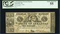 Obsoletes By State:Arkansas, (Little Rock), AR- Arkansas Treasury Warrant $10 Apr. 4, 1862 Cr. 58 PCGS Choice About New 55.. ...