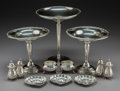 Silver Holloware, Continental:Holloware, Twelve Various American and English Table Items, 20th century. Marks: (various). 8-1/8 inches (20.6 cm) (tallest). 9.38 troy... (Total: 11 Items)