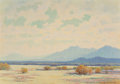 Fine Art - Painting, American, Gordon Coutts (American, 1880-1937). Desert in Bloom. Oil oncanvas. 21 x 30 inches (53.3 x 76.2 cm). Signed lower right...