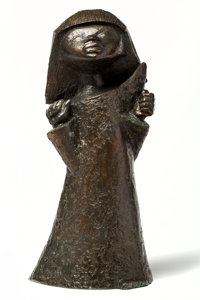 Angel Botello (1913-1986) Manuel, circa 1960 Bronze with brown patina 29-3/4 x 14 x 11 inches (75