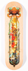 Collectible:Contemporary, Magnus Gjoen X Maison Balthazar. Flowerbomb, n.d.. Offset lithograph on skate deck. 32 x 8 inches (81.3 x 20.3 cm). Ed. ...