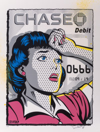Denial (Canadian, 20th century) Chase, with credit card, 2016 Screenprint in colors with aerosol emb