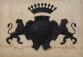 Metalwork, A Painted Metal Coat of Arms, 18th century. 49-1/2 x 71 x 3-1/4 inches (125.7 x 180.3 x 8.3 cm). ...
