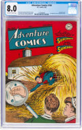 Golden Age (1938-1955):Superhero, Adventure Comics #104 (DC, 1946) CGC VF 8.0 Off-white to white pages....