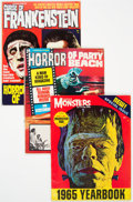 Magazines:Horror, Assorted Horror Magazines Group of 23 (Various Publishers, 1960s-70s) Condition: Average FN/VF.... (Total: 23 Comic Books)