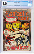 Silver Age (1956-1969):Superhero, Fantastic Four #8 (Marvel, 1962) CGC VF 8.0 Off-white to white pages....