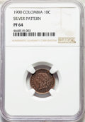 Colombia, Colombia: Republic silver Proof Pattern 10 Centavos 1900 PR64NGC,...