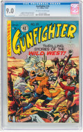 Golden Age (1938-1955):Western, Gunfighter #10 (EC, 1949) CGC VF/NM 9.0 Off-white to white pages....