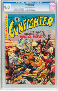Gunfighter #10 (EC, 1949) CGC VF/NM 9.0 Off-white to white pages