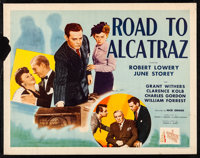 "Road To Alcatraz (Republic, 1945) Rolled, Fine. Half Sheets (2) (22"" X 28"") Style A & B. Mystery.... (Tota..."
