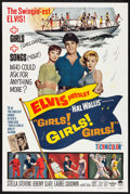 "Movie Posters:Elvis Presley, Girls! Girls! Girls! (Paramount, 1962). Folded, Very Fine. OneSheet (27"" X 41""). Elvis Presley.. ..."