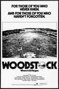 "Movie Posters:Rock and Roll, Woodstock (Warner Brothers, R-1976) Folded, Very Fine+. One Sheet(27"" X 41""). Rock and Roll...."