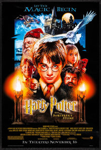 """Harry Potter and the Sorcerer's Stone (Warner Brothers, 2001) Rolled, Very Fine/Near Mint. One Sheet (27"""" X 40""""..."""