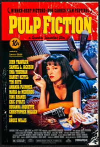 "Pulp Fiction (Miramax, 1994) Rolled, Very Fine/Near Mint. One Sheet (27"" X 40"") SS. Crime"