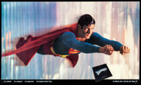 "Superman the Movie (Warner Brothers, 1978) Rolled, Fine/Very Fine. Soundtrack Poster (55.75"" X 36""). Action..."