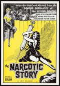 "Movie Posters:Exploitation, The Narcotic Story (Jolf, 1958) Rolled, Very Fine. One Sheet (27"" X41""). Exploitation...."