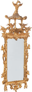 Furniture , A Chinese Chippendale-Style Carved Giltwood Mirror, 20th century. 76 x 32 x 8 inches (193.0 x 81.3 x 20.3 cm). PROPERTY FR...