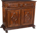 Furniture , An Italian Carved Walnut Credenza, late 18th century. 50 x 63-1/2 x 26-1/2 inches (127 x 161.3 x 67.3 cm). ...