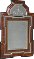 , A Italian or Dutch Baroque Walnut Mirror, late 17th-early 18thcentury . 32 x 22 inches (81.3 x 55.9 cm). ...