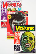 Magazines:Horror, Famous Monsters of Filmland Yearbook Group of 6 (Warren, 1966-70) Condition: Average VF.... (Total: 6 Items)