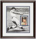 Autographs:Sports Cards, Signed 1961 Topps Roger Maris #2 Display....