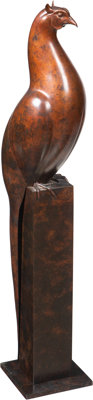 Geoffrey Dashwood (British, b. 1947) Bird Bronze with brown patina 36 inches (91.4 cm) high Ed